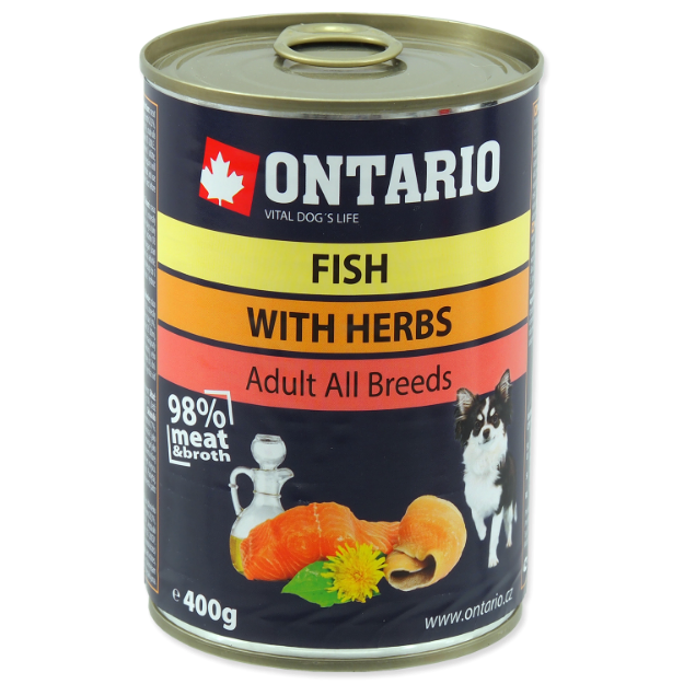 Konzerva ONTARIO Dog Mini Multi Fish and Salmon Oil 400g