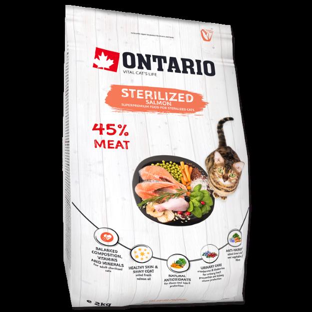 ONTARIO Cat Sterilised Salmon 2kg