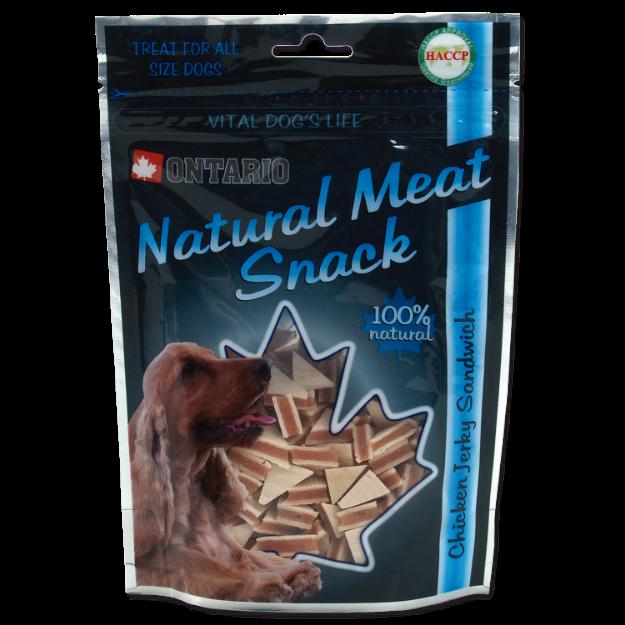 Snack ONTARIO Dog Chicken Jerky Sandwich 70g