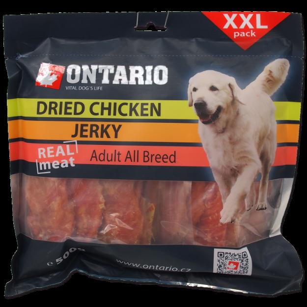 Snack ONTARIO Dog Dry Chicken Jerky 500g