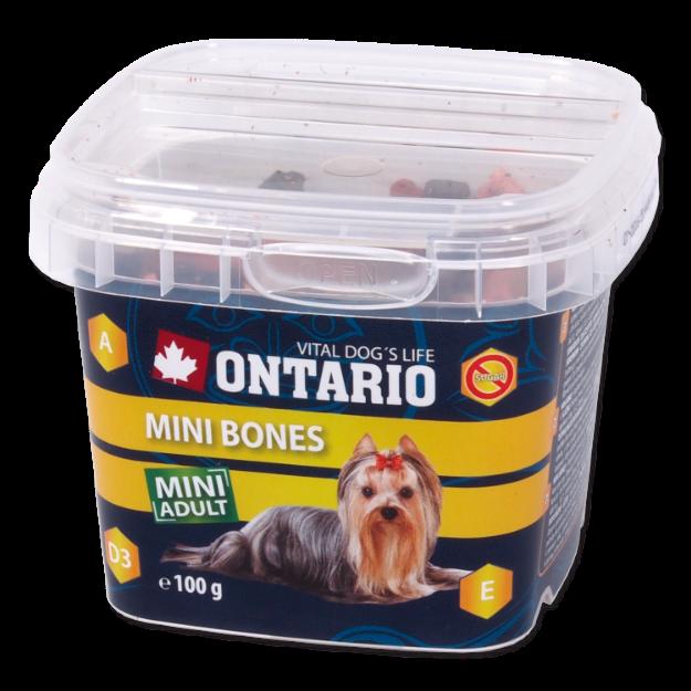 Snack ONTARIO Dog Mini Bones 100g