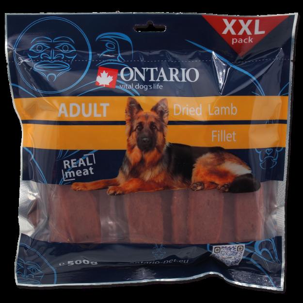Snack ONTARIO Dog Dry Lamb Fillet 500g