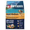 ONTARIO Dog Adult Medium Fish & Rice 2,25kg