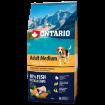 ONTARIO Dog Adult Medium Fish & Rice 12kg