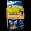 ONTARIO Dog Adult Medium Lamb & Rice 2,25kg