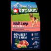 ONTARIO Dog Adult Large Beef & Rice 2,25kg