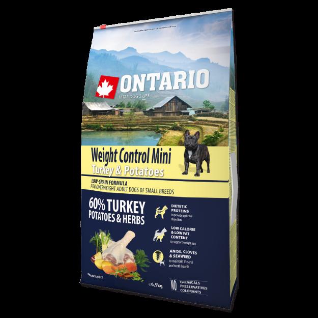 ONTARIO Dog Mini Weight Control Turkey & Potatoes 6,5kg