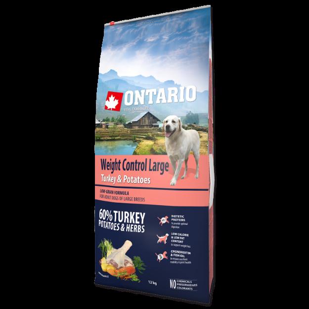 ONTARIO Dog Large Weight Control Turkey & Potatoes & Herbs 12kg