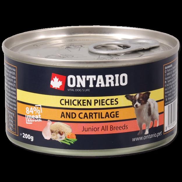 Konzerva ONTARIO Junior Chicken Pieces + Cartilage 200g