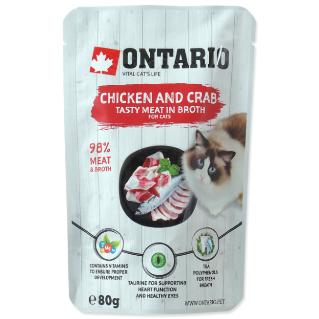 Kapsicka ONTARIO Cat Chicken and Crab in Broth 80g