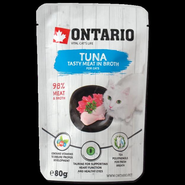 Kapsicka ONTARIO Cat Tuna in Broth 80g