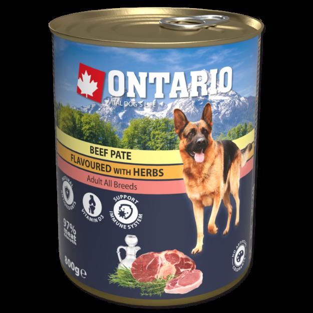 Obrázek Konzerva ONTARIO Dog Beef Pate Flavoured with Herbs