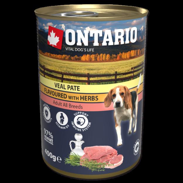 Obrázek Konzerva ONTARIO Dog Veal Pate Flavoured with Herbs